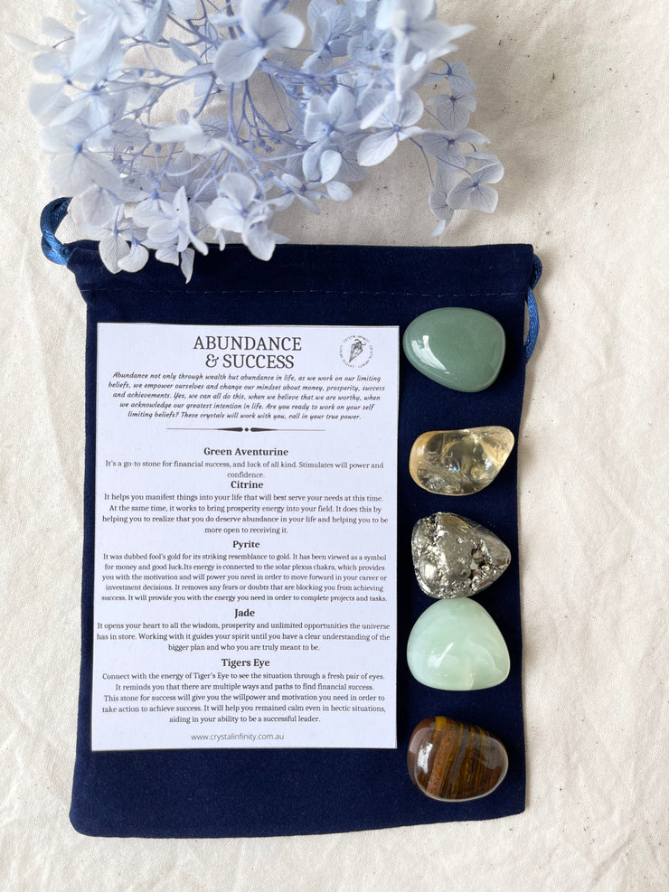 Abundance and Success tumbled stone collection