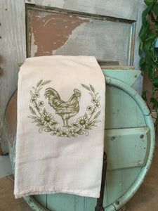 Rooster Flour sack dish towel