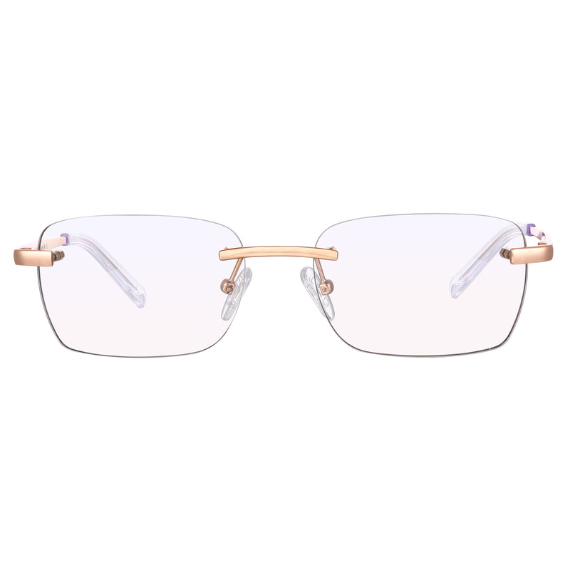 Astos Men's Eyewear - Transparent  | 9K Gold plated