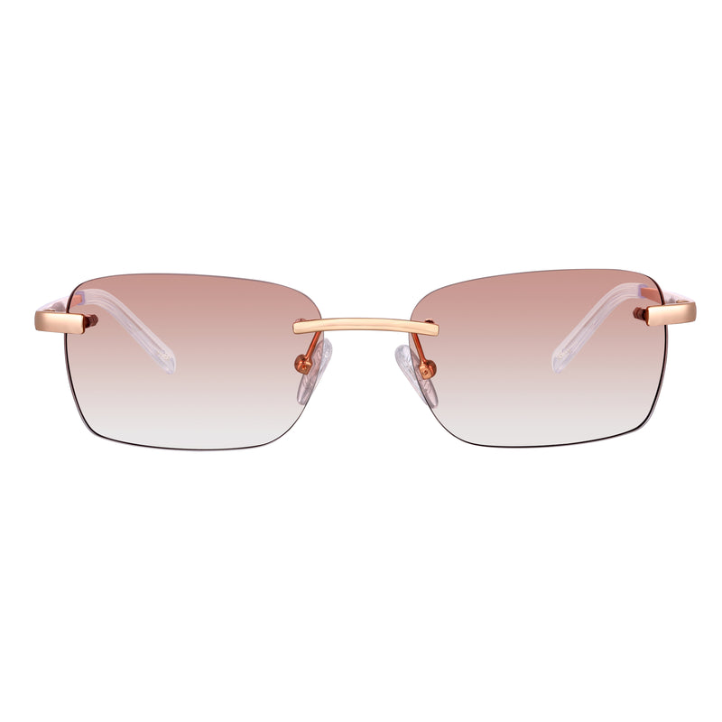 Astos Women's Eyewear - Brown | 9K Gold plated