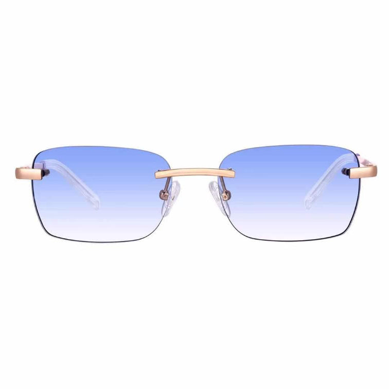 Astos Women's Eyewear - Light Blue Gradient | 9K Gold plated