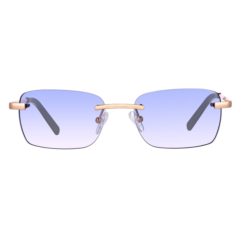 Astos Men's Eyewear - Light Blue gradient | 9K Gold plated