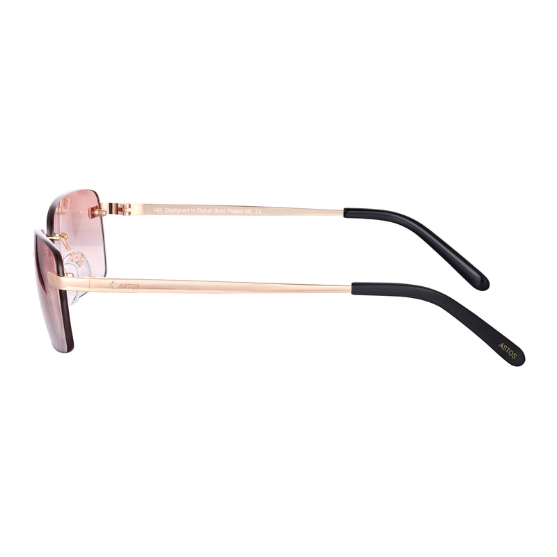 Astos Women's Eyewear - Brown Gradient | 9K Gold plated