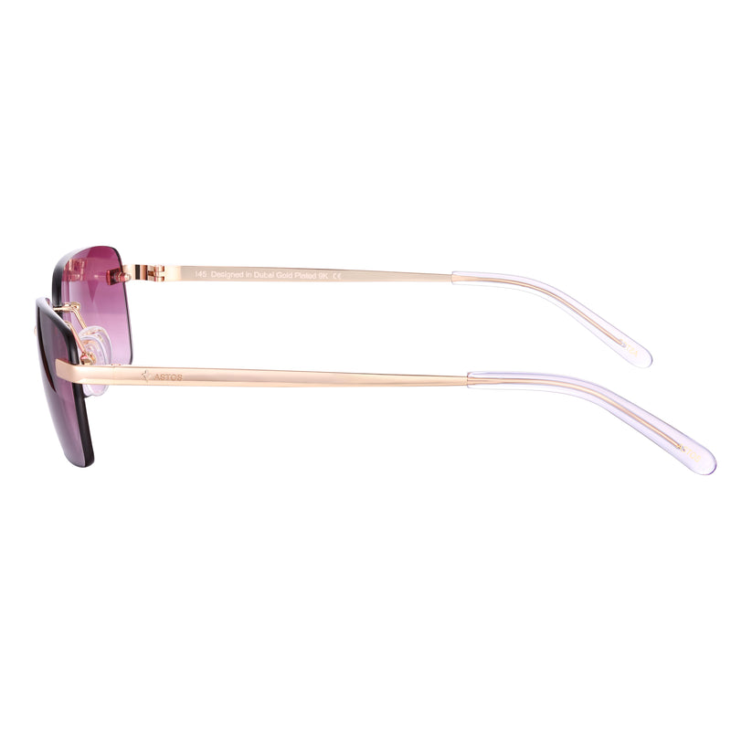 Astos Men's Eyewear - Bordeaux Red gradient  | 9K Gold plated