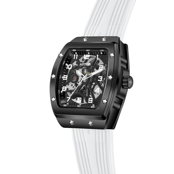 Millionaire Black Case and Dial - White Strap (pre-order)