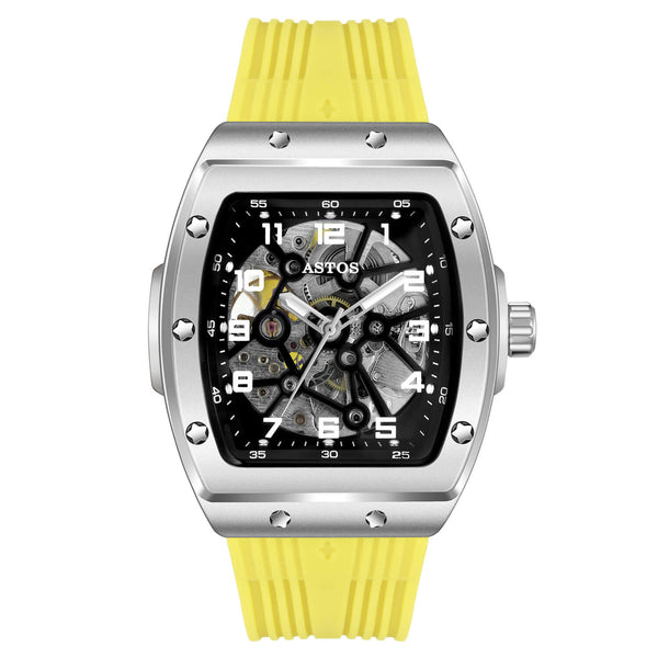Millionaire Silver Case and Dial - Yellow Strap