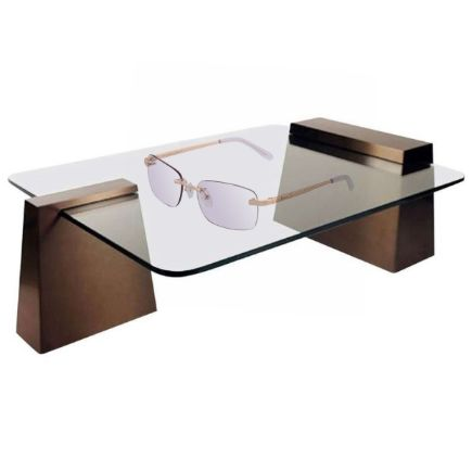 Astos Women's Eyewear - Transparent | 9K Gold plated