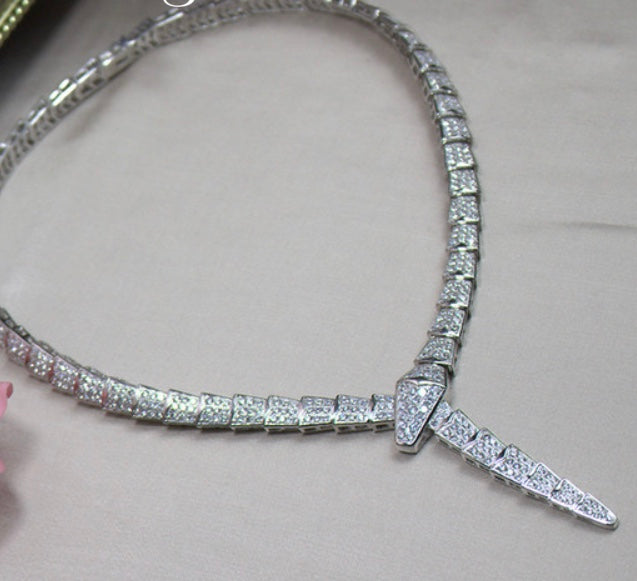 Serpentine Cubic Zirconia Necklace