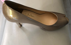 Cole Haan OT Air Pump Open Toe Champagne Pump