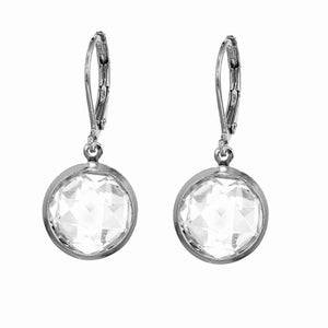 Silver white Zirconia Drop Stone Earrings