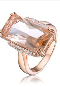 Rose gold cubic zirconia ring