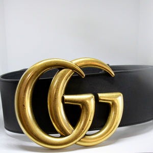 Gucci Black Wide GG belt