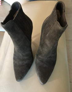 Cole Haan Dark Grey Suede Short Boot