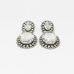 Silver Swarovski Crystals Earrings