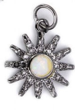 Load image into Gallery viewer, Sun Pendant/Charm Cubic Zirconia Pave
