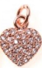 Load image into Gallery viewer, Heart Charm/Pendant Cubic Zirconia Pave