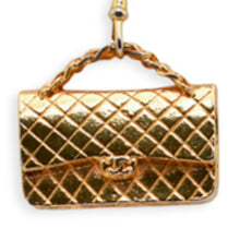 Load image into Gallery viewer, CHANEL LARGE QUILTED GOLD TONE BAG CHARM