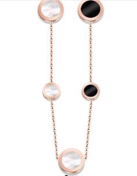 Pink Gold Multi Stone Necklace