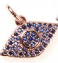 Load image into Gallery viewer, Eye Pendant/Charm Cubic Zirconia Pave