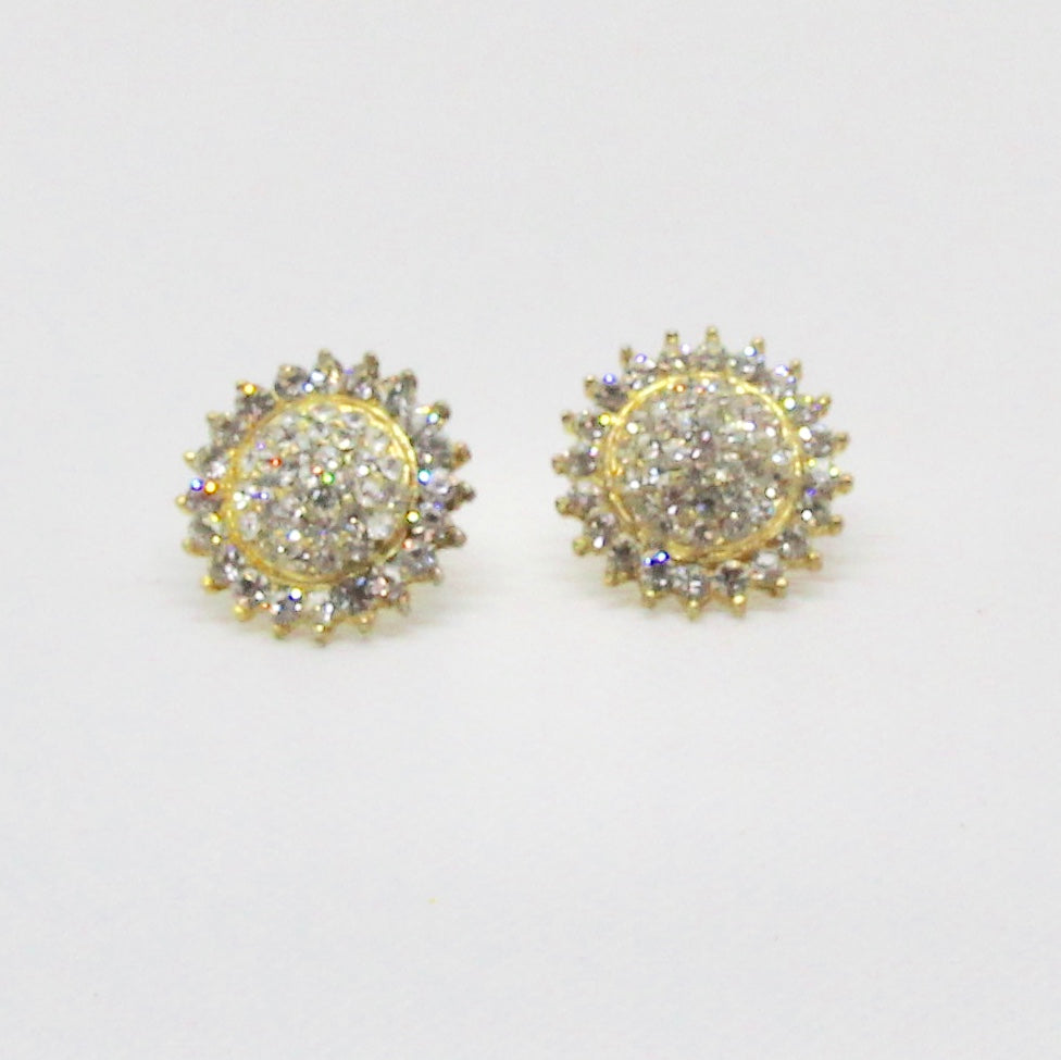 Gold stardust and crystal earrings