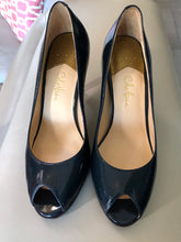 Load image into Gallery viewer, Cole Haan OT Air Pump Blue Patent Open Toe Pump