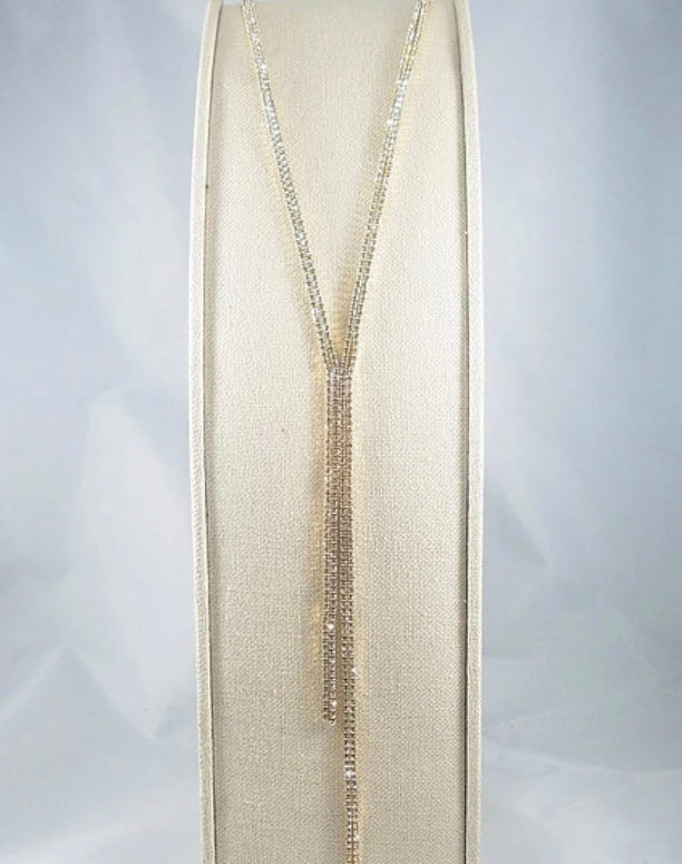 Gold Tassel Long Y-Long Necklace