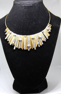 Gold with Cubic Zirconia Choker