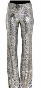 Sequin Silver Pants