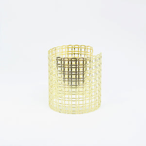 Gold Square Pattern Cuff