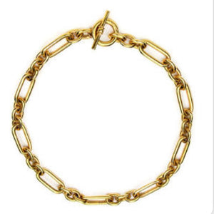 Ben Amun 24 Kt Gold Chain Link Necklace