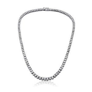 Silver With Gleaming Cubic Zirconia Necklace