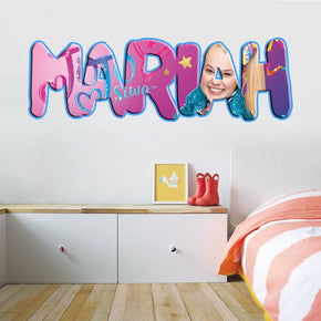 Jojo Siwa Personnalisé Custom Name Wall Sticker Decal WP212