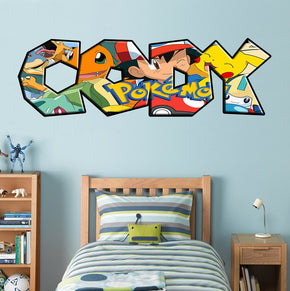Pokemon Personalized Custom Name Wall Sticker Decal WP207
