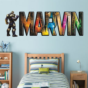 THANOS The Avengers Infinity War Personalized Custom Name Wall Sticker Decal WP210
