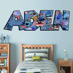 STITCH Personalized Custom Name Wall Sticker Decal WP206