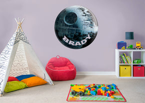 Star Wars Death Star Personalized Custom Name Wall Sticker Decal WP211