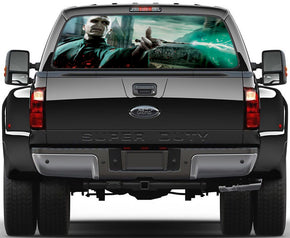 Harry Potter Voldemort Car Rear Window See-Through Net Decal 480