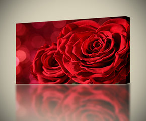 Red Roses Flowers Nature Canvas Print Giclee