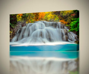 Waterfall Forest Trees Nature Canvas Print Giclee