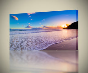 Exotic Beach Sunset Canvas Print Giclee