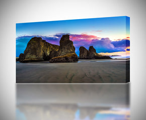 Exotic Beach Purple Sunset Canvas Print Giclee