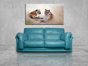 Tigers Safari Animals Canvas Print Giclee