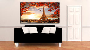 Paris Eiffel Tower Skyline Canvas Print Giclee