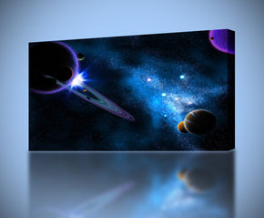 Space Planets Galaxy Canvas Print Giclee