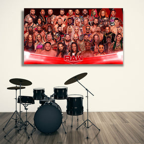 WWE Raw Wrestlers Canvas Print Giclee CA1289