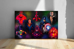 Superheroes Painting Artwork Canvas Print Giclee CA1290