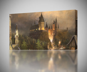 Harry Potter Hogwarts Canvas Print Giclee CA140