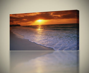 Beach Sunset Canvas Print Giclee