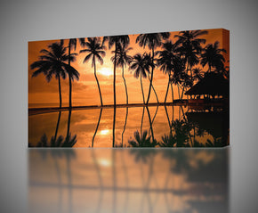 Hawaii Beach Sunset Canvas Print Giclee