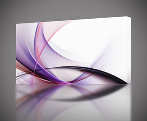 Modern Abstract Purple Waves Canvas Print Giclee